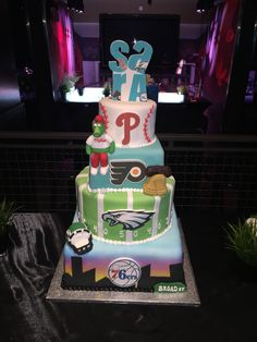 Incredible 27 Best Philadelphia Sports Cakes And Desserts Images Sport Funny Birthday Cards Online Hendilapandamsfinfo