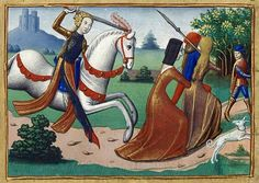 Joan of Arc chasing prostitutes BnF, Fr. 5054, 15th c.