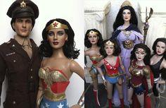 Wonder Woman Doll Repaints - with Steve Trevor Repaint