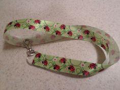 Green Ladybugs Handmade Ribbon Lanyard by KreationsbyKolleen on Etsy