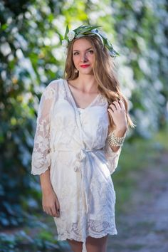Robes by silkandmore - Oh Heather White Scalloped Lace Bridal Robe, $135 (http://robesbysilkandmore.com/oh-heather-white-scalloped-lace-bridal-robe/)