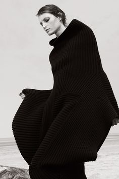 Sculptural Knitwear - panelled sweater with kimono-inspired silhouette // Joseph AW14