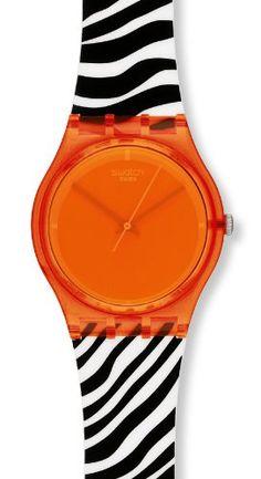 b725bb53882 Swatch Originals Orange Zeb Orange Dial Unisex watch  GO107 Swatch