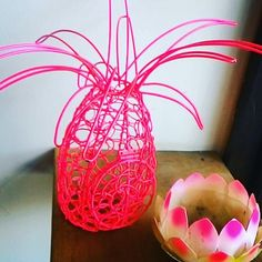 Perky pink pieces of art #pineapple #pink #art #wireart #bali #freedompreneur #digitalnomad #laptoplifestyle #viptravel #wanderlust #invigoratedliving