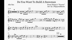alto saxophone sheet music for do you want to build a snowman | maxresdefault.jpg