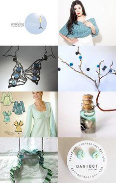 --Pinned with TreasuryPin.com  Aqua blue Aqua Blue, Retro Vintage, Upcycle, My Etsy Shop, Handmade Jewelry, Shopping, Fashion, Moda, Upcycling