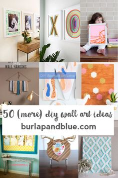 50 DIY wall art ideas!