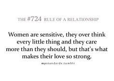 women are sensitive