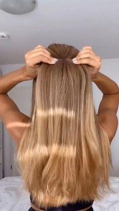 Summer Hairstyles, Easy Hairstyles, Girl Hairstyles, Hairdo For Long Hair, Pin Up Hair, Ponytail Bridal Hair, Help Hair Grow, Light Hair, Hair Pictures