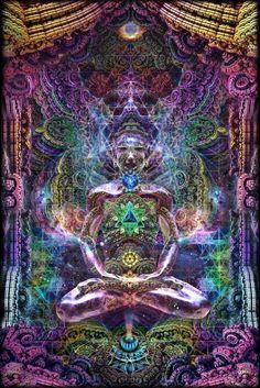 "Third Eye Tapestries - ""Celestrial Aura"" by Dima Yastronaut – Live Your Life Gear"