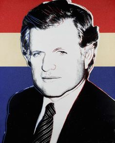 Edward Kennedy 241 is a deluxe edition made to raise funds for Kennedy's Democratic campaign for President. This limited edition is identical to Edward Kennedy FS II.240, but with red, white and blue as background colors. The late Senator Edward Kennedy asked Warhol to create a deluxe portrait that would serve as a fundraiser for his presidential primary campaign. This work is rare because it was a small edition originally intended only for donors of Kennedy's campaign.