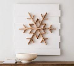 Snowflakes Art, Wood Snowflake, Snowflake Shape, Snowflake Wreath, Christmas Snowflakes, Decoration Christmas, Christmas Wall Art, Christmas Diy, Pottery Barn Christmas