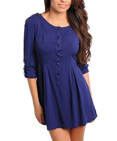 Take a look at this Navy Button-Up Dress by Buy in America on #zulily today! This needs leggings. Misses Clothing, That Look, Take That, Button Up Dress, Sex And Love, Maternity, Cover Up, Leggings, America