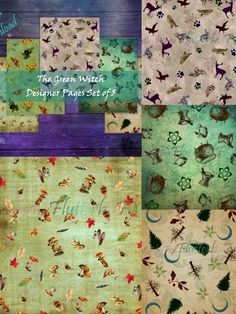 Your Image, Ephemera, Witch, Fox, Printables, Scrapbook, Quilts, Green, Crafts