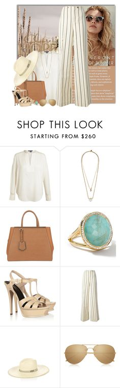 """""""Stand Up! Platform Sandals"""" by fashionbrownies ❤ liked on Polyvore featuring Vince, Zimmermann, Fendi, Ippolita, Yves Saint Laurent, Ralph Lauren Blue Label, Filù Hats and Linda Farrow"""