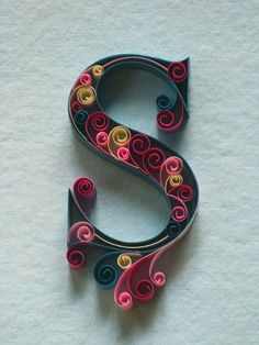 quilled letters - Google Search
