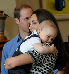 William, Kate, and George. Sweet picture...