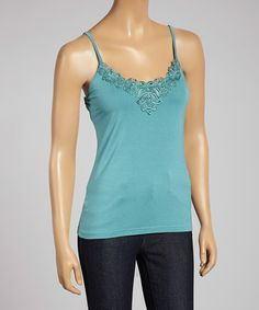 Love this Teal Lace Tank on #zulily! #zulilyfinds