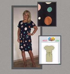 Denne kjole er igen fra siden https://pppp.dk/syet i jersey. En side hvor du skriver dine mål ind og så modtager du mønsteret på mail. Du printer så ud...