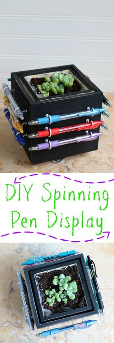 DIY Spinning Pen Display [AD] #PilotYourLife