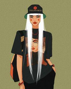 art and sketches Pretty Art, Cute Art, Arte Grunge, Hip Hop Art, Hippie Art, Art Drawings Sketches, Portrait Art, Aesthetic Art, Cartoon Art