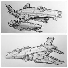 ArtStation - Aircraft sketches , Alex Villarreal