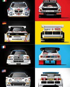 """17 Me gusta, 1 comentarios - 🌍 EXTREMADURA RACING 👊💨 (@lavera_racing_) en Instagram: """"¿Cuál ha sido el mejor para ti? ¡Todos tuvieron una gran importancia en los rallyes del grupo B!…"""" Sport Cars, Race Cars, Carros Suv, Rallye Paris Dakar, Audi Motorsport, Automobile, Rally Raid, Lancia Delta, Car Illustration"""