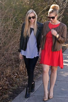 How to Wear Leather Two Ways by Fashion Column Twins!