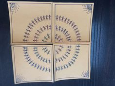 Warli on hand made paper with sharpie pens