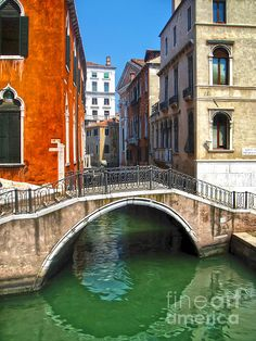 Venice Italy - Canal Bridge