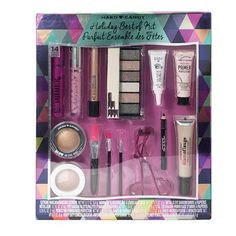 Ten makeup minis (including blush, bronzer, eyeliner, eyeshadow, face primer, mascara and lip gloss), plus three makeup brushes and an eyelash curler for only 20 bucks? What a deal!