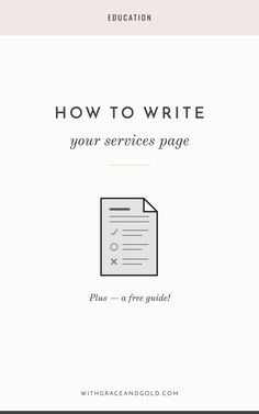 With Grace & GoldHow to Write Your Services Page   With Grace & Gold