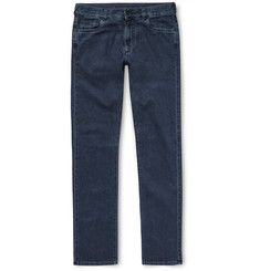 Canali Stretch Cotton and Cashmere-Blend Denim Jeans
