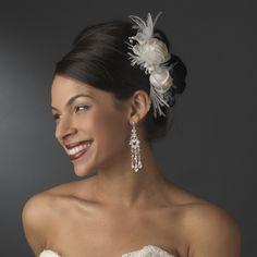 Baccara Rose and Pearl Fascinator Comb   Olivier Laudus