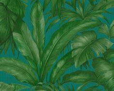 Vliestapete Blätter türkis grün AS Creation Versace 96240-6 online bestellen