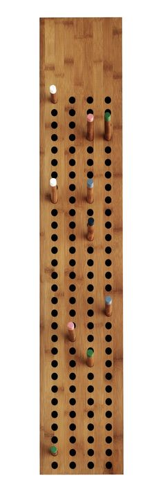 Sebastian Jørgensen; Bamboo, Ash and Paint 'Scoreboard' Coat Rack for We Do Wood, 2013.