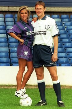 Samantha Fox and Teddy Sheringham, 1995
