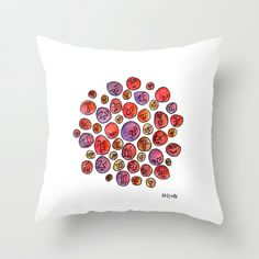 Oodles of O's #001 Throw Pillow
