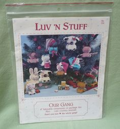 """Luv 'n Stuff  'Our Gang' pattern No OG 4"""" adorable ornaments or package ties…"""