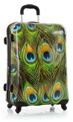 Heys Peacock Spinner Luggage. ohmgee I need this!!!