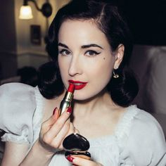 """25 Beauty Lessons We've Learned from Dita. """"Finding and making your beauty mark is about living as your authentic, empowered self. If this is what the world calls being an eccentric beauty, so be it!"""" 2. """"Strive for glamour! Glamour is enchantment, wonder. It is standing out from the crowd by way of flourish, manners and charm. Glamour is a thing of beauty—but it's not about being born beautiful. Glamour doesn't belong to to those naturally stunning, or to the rich, or young. Hollywood has…"""