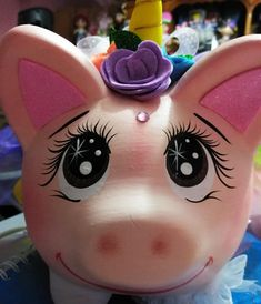 Penny Bank, Personalized Piggy Bank, Unicorn, Arts And Crafts, Lily, Kawaii, Ceramics, Ornaments, Painting