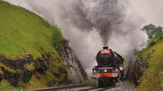 """New book """"Railways in the British Landscape"""" showcases photos that will please fans of trains and the countryside of Britain. Uk Rail, Countryside, Britain, Princess Elizabeth, Steam Engine, Landscape, Trains, Mountain, Beautiful"""