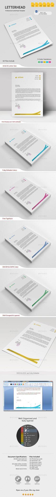 Letterhead Letterhead, Stationery printing and Print templates