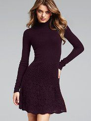Pointelle Scoopneck Sweaterdress - Victoria's Secret