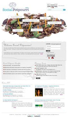 The website 'www.socialpotpourri.com' courtesy of Pinstamatic (http://pinstamatic.com)