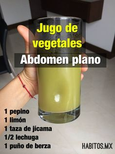 Jugo de Vegetales -Abdomen Plano-
