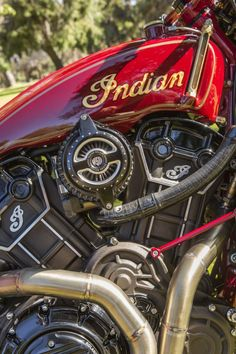 Roland Sands has released more details about his latest custom Indian Motorcycle – called the RSD Scout [. Harley Davidson Motorcycles, Custom Motorcycles, Custom Bikes, Custom Bobber, Honda Motorcycles, Womens Motorcycle Helmets, Bobber Motorcycle, Motorcycle Girls, Motorcycle Engine