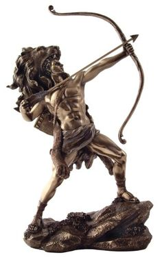 Hercules Statue, Greek God Heracles, Shooting Arrow, Wearing Nemean Lion Skin - Celebrate Greek mythology and warrior style with this stunning Hercules statue.  It features the hero of ancient Greece pulling back on his bow, ready to unleash his arrows at any foe.  $65.60