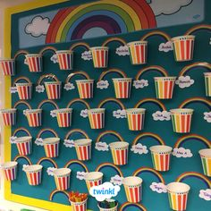 🌈 Rainbow Challenge Display 🌈 We love Victoria's colourful display encouraging children to identify and select the colours of the rainbow. Use our editable rainbow labels to make your own rainbow challenge display! Primary Classroom Displays, Classroom Jobs Display, Literacy Display, Ks1 Classroom, Year 1 Classroom, Classroom Pictures, Classroom Organisation, Classroom Resources, Working Wall Display